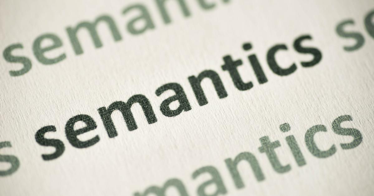 Semantics. It's not me. It's you.